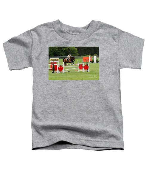 Jumping Canadian Fence Toddler T-Shirt