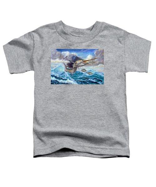 Jumping Sailfish And Small Fish Toddler T-Shirt