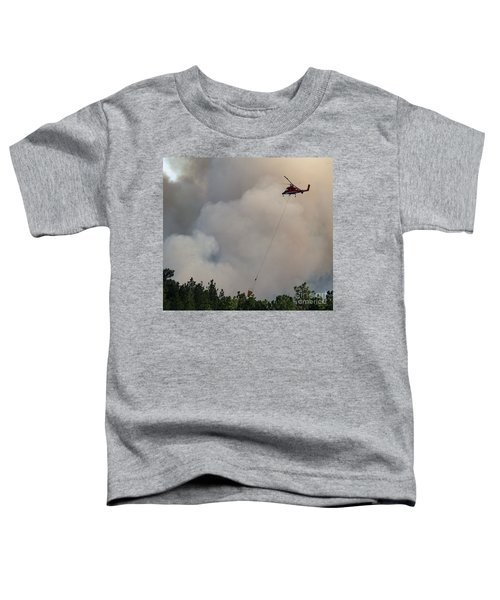 K-max Helicopter On Myrtle Fire Toddler T-Shirt