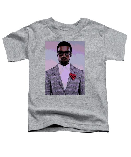 Kanye West Poster Toddler T-Shirt by Dan Sproul