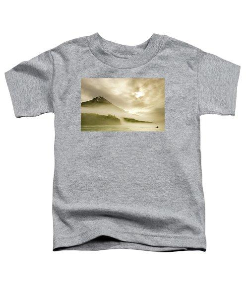 Kayaker And Marine Fog On The Alsek Toddler T-Shirt