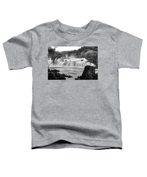 Krka Waterfalls Bw Toddler T-Shirt