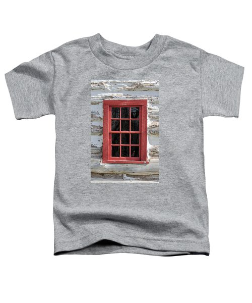 Landow Cabin Window Toddler T-Shirt