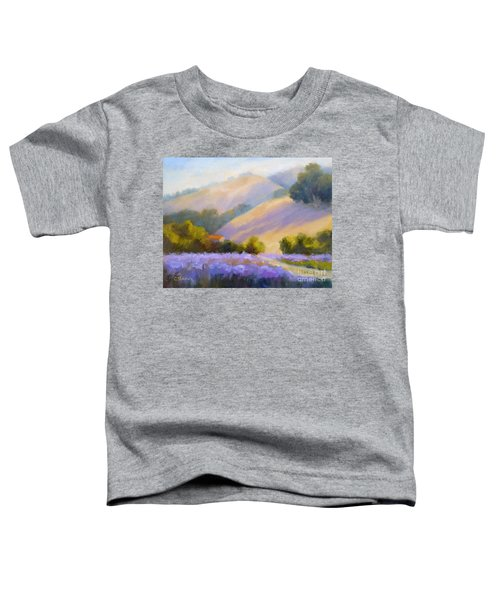 Late June Hills And Lavender Toddler T-Shirt