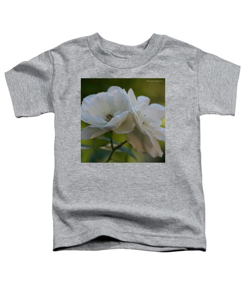 Lean On Me White Roses In Anna's Gardens Toddler T-Shirt