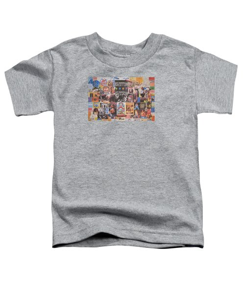 Led Zeppelin Years Collage Toddler T-Shirt by Donna Wilson