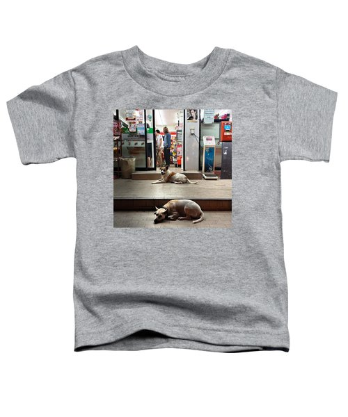 Toddler T-Shirt featuring the photograph Let Sleeping Dogs Lie Where They May by Mr Photojimsf