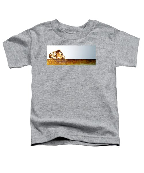 Lion And Lioness - Original Artwork Toddler T-Shirt