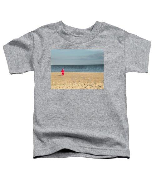 Little Santa On The Beach Toddler T-Shirt