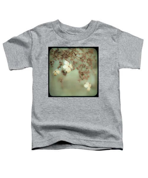 Little White Flowers - Floral - The Little Things In Life Toddler T-Shirt