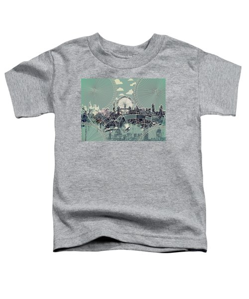 London Skyline Vintage Toddler T-Shirt