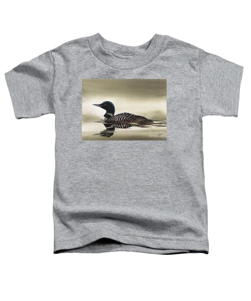 Loon In Still Waters Toddler T-Shirt by James Williamson
