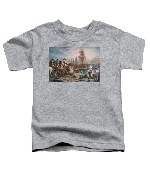 Lord Howe Organizes The British Evacuation Of Boston In March 1776 Toddler T-Shirt
