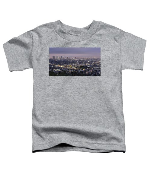 Los Angeles At Night From The Griffith Park Observatory Toddler T-Shirt