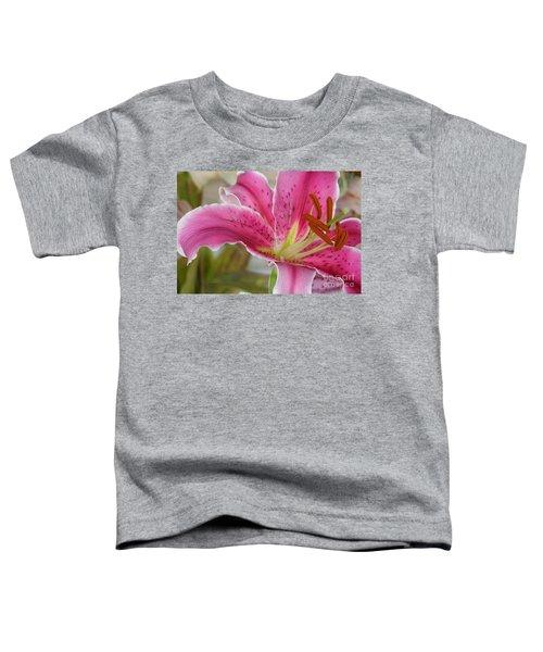Magenta Tiger Lily Toddler T-Shirt