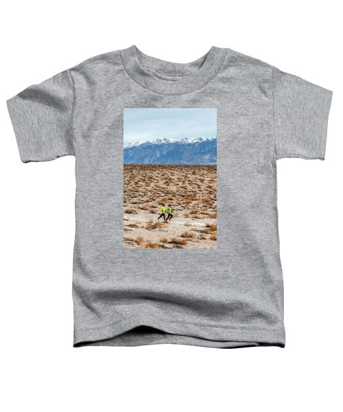 Man And Woman  Trail Running Toddler T-Shirt