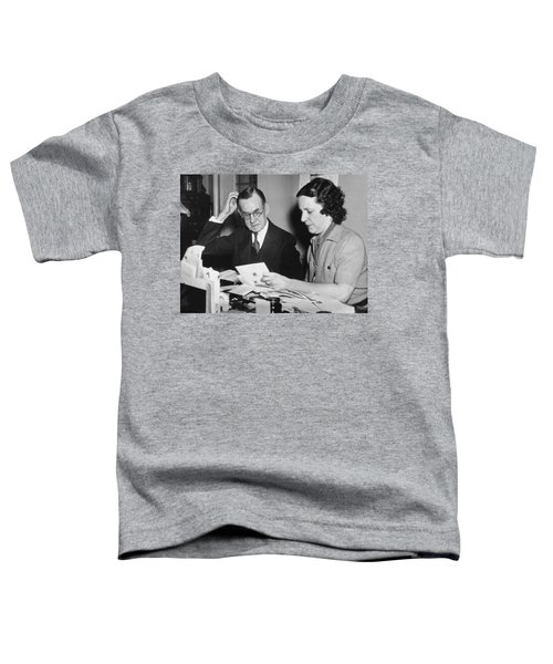 Man Assisted By His Secretary Toddler T-Shirt