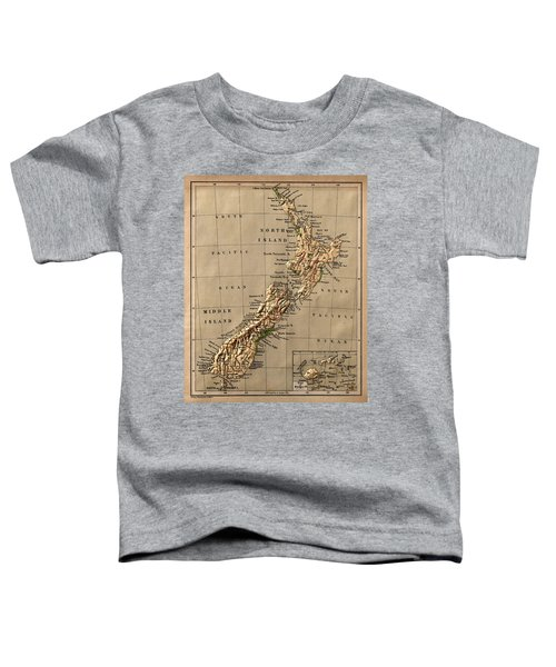 Map Of New Zealand 1880 Toddler T-Shirt
