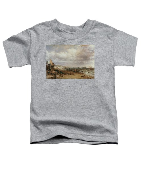 Marine Parade And Old Chain Pier, 1827 Oil On Canvas Toddler T-Shirt