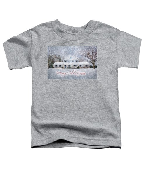 Wintry Holiday - Merry Christmas Toddler T-Shirt