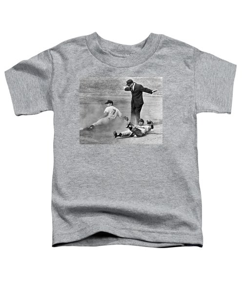 Mickey Mantle Steals Second Toddler T-Shirt by Underwood Archives