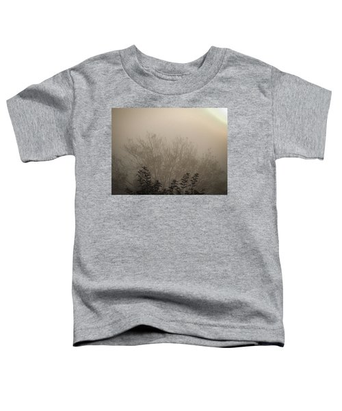 Toddler T-Shirt featuring the photograph Misty Morning by James Truett