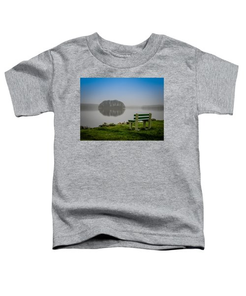 Toddler T-Shirt featuring the photograph Misty Morning On Lake Knockalough by James Truett