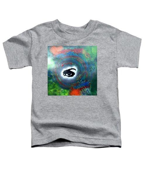 Mixed Media Abstract Post Modern Art By Alfredo Garcia Eye See You Toddler T-Shirt
