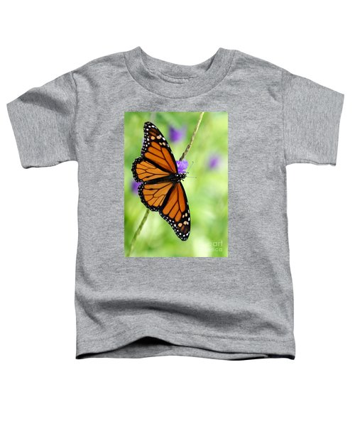 Monarch Butterfly In Spring Toddler T-Shirt