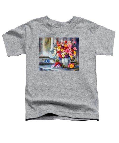 Monet Floral Edged Toddler T-Shirt
