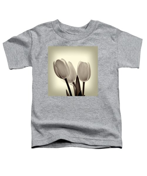 Monochrome Tulips With Vignette Toddler T-Shirt