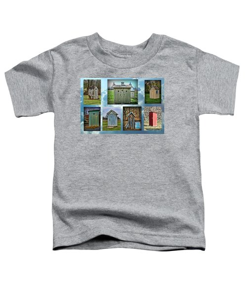 Montage Of Outhouses Toddler T-Shirt