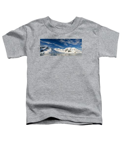 Mountains And Glaciers, Paradise Bay Toddler T-Shirt