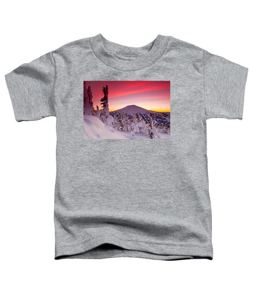 Mt. Bachelor Winter Twilight Toddler T-Shirt