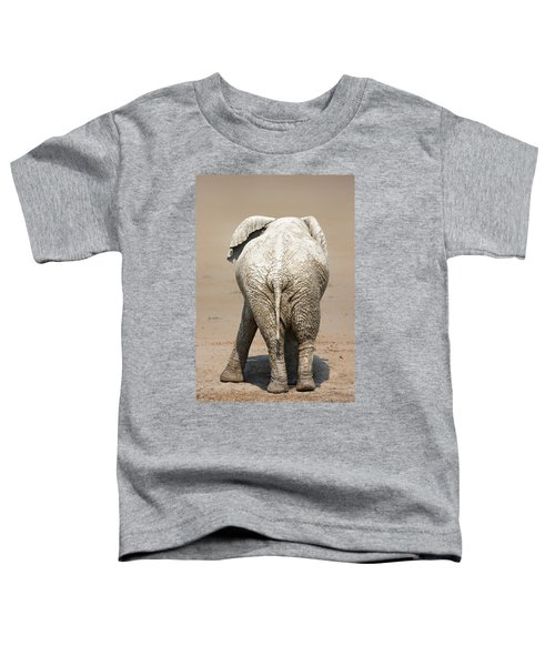 Muddy Elephant With Funny Stance  Toddler T-Shirt
