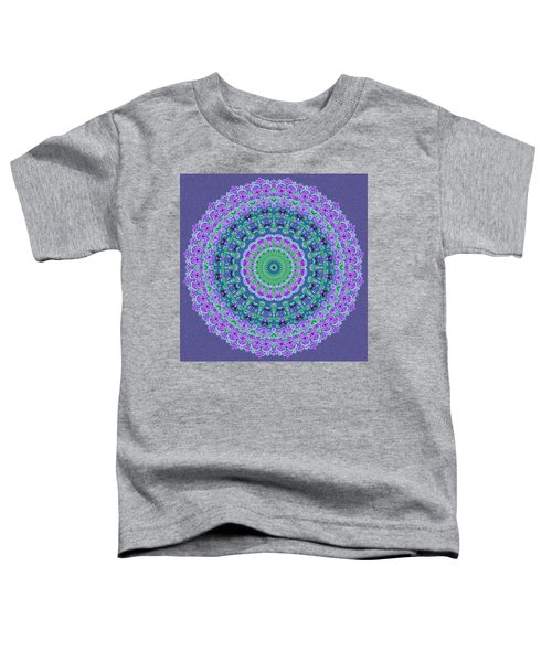 Toddler T-Shirt featuring the digital art Nantucket Cottage Mandala by Joy McKenzie