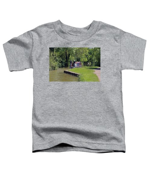 Narrowboat On Oxford Canal Toddler T-Shirt