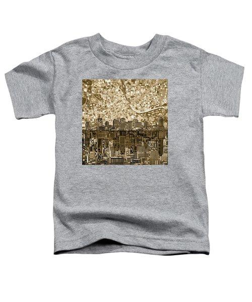 Nashville Skyline Abstract 6 Toddler T-Shirt