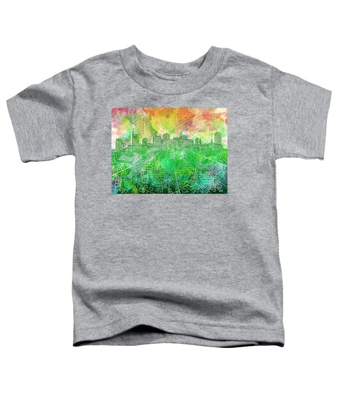 Nashville Skyline Watercolor 2 Toddler T-Shirt