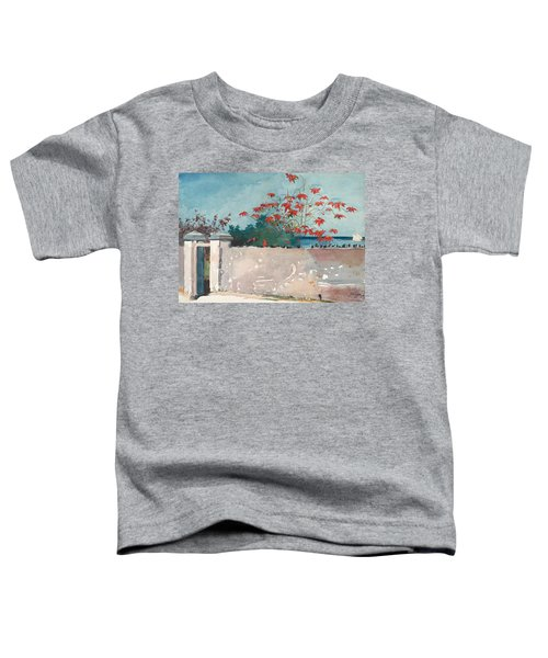 Toddler T-Shirt featuring the painting Nassau Bahamas by Winslow Homer