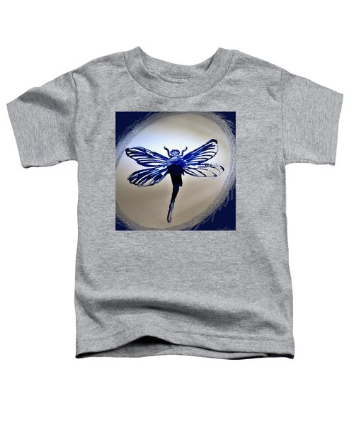 Navy Dragonfly Alcohol Inks  Toddler T-Shirt