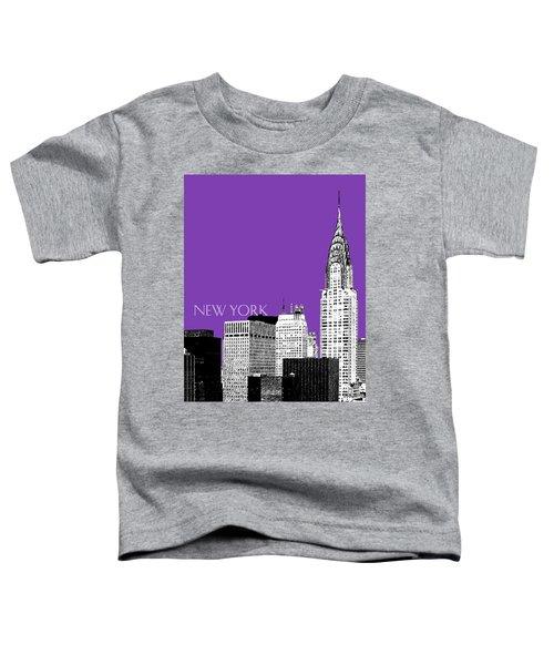 New York Skyline Chrysler Building - Purple Toddler T-Shirt