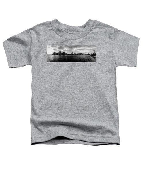 New York Skyline Toddler T-Shirt by Nicklas Gustafsson