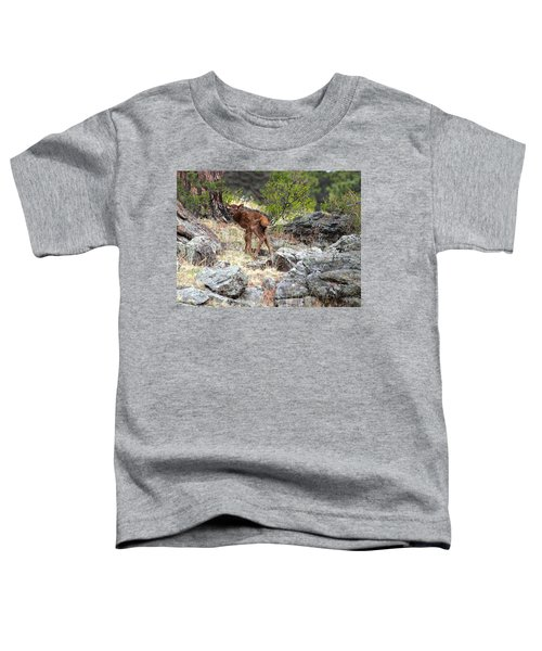 Newborn Elk Calf Toddler T-Shirt