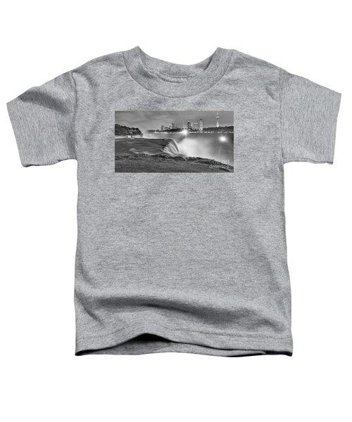 Niagara Falls Black And White Starbursts Toddler T-Shirt