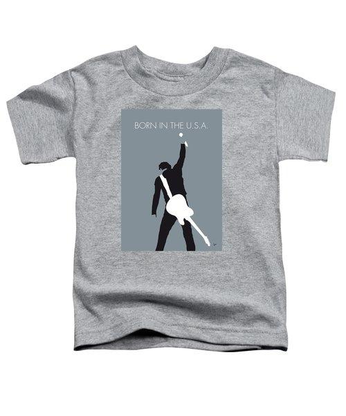 No017 My Bruce Springsteen Minimal Music Poster Toddler T-Shirt by Chungkong Art