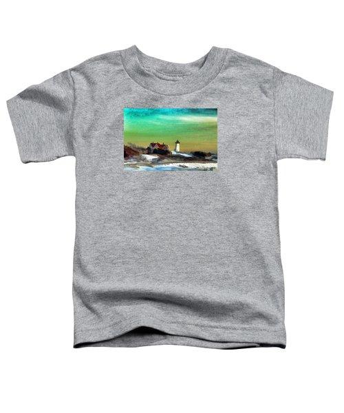 Nobska Lighhouse In Winter Toddler T-Shirt