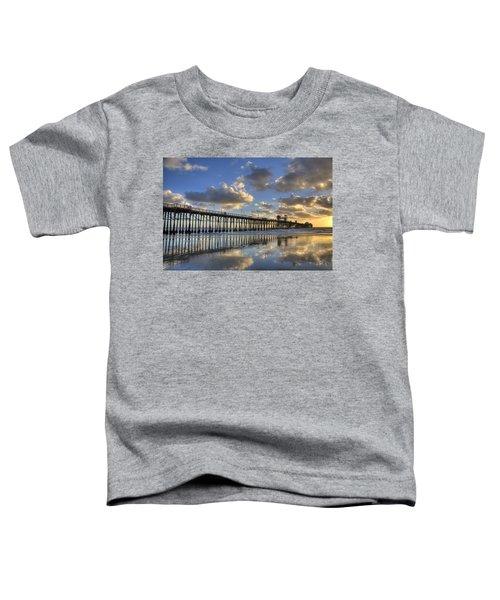 Oceanside Pier Sunset Reflection Toddler T-Shirt