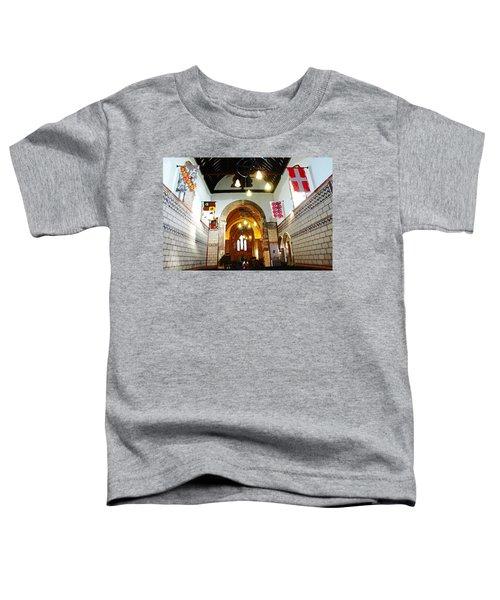 Oil Painting - Church Inside Dover Castle Toddler T-Shirt