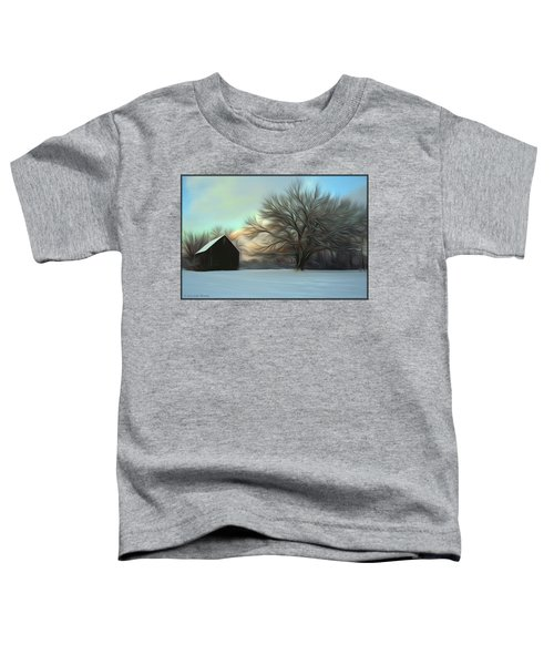 Old Barn In Snow Toddler T-Shirt